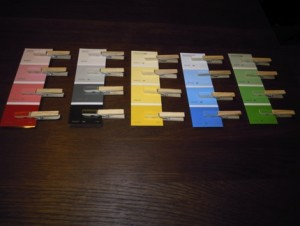 """Akce """"Pytlíky"""" – párování barev a jejich odstínů"""